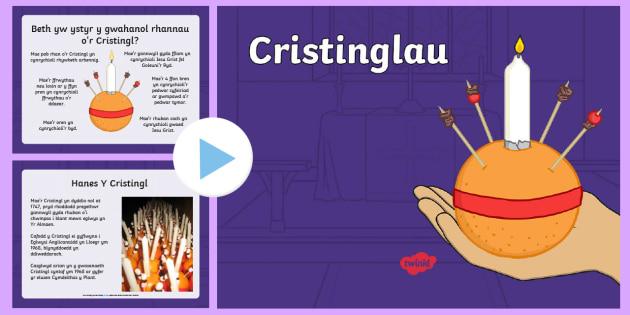 Pŵerbwynt Y Cristingl - cristingl, nadolig, cristnogion, cristnogaeth - cristingl, nadolig, cristnogion, cristnogaeth