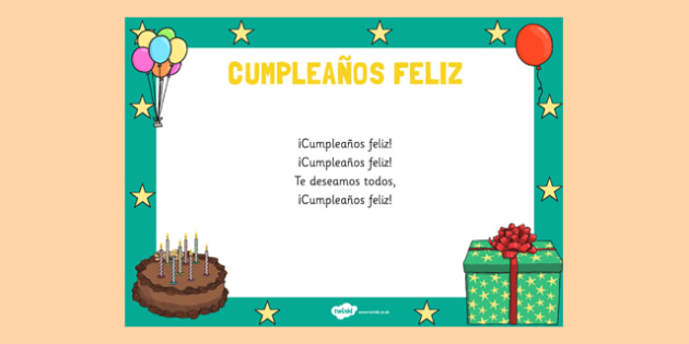Canción cumpleaños feliz - cantar, celebrar