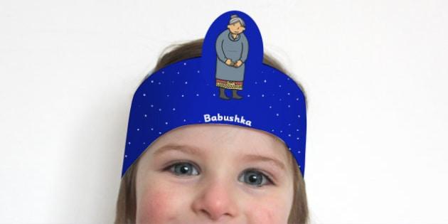 Babushka Role Play Headband - babushka, role-play, headband