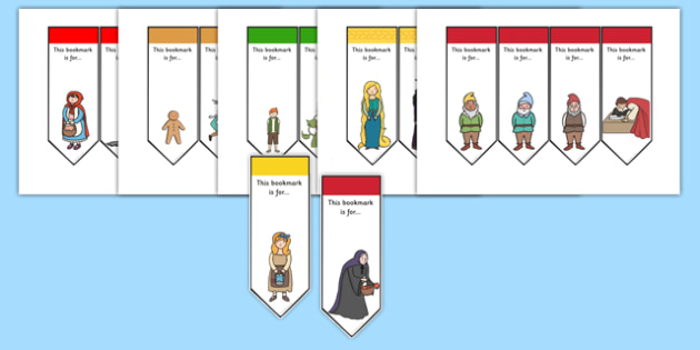 Traditional Tales Mixed Bookmarks - trad tales, book marks, read