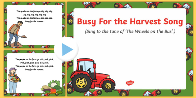Busy For the Harvest Song PowerPoint
