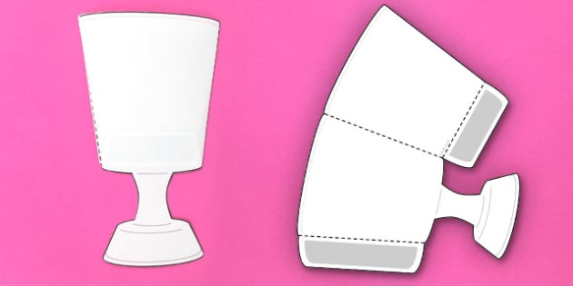 Interactive Goblet-Shaped Pocket Visual Aid Template - goblet, aid