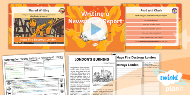 Time Travel: The Great Fire of London: Recounts 4 Y1 Lesson Pack - Samuel Pepys, Samuel Peeps, 1666, Pudding Lane, Charles II, newspaper reports