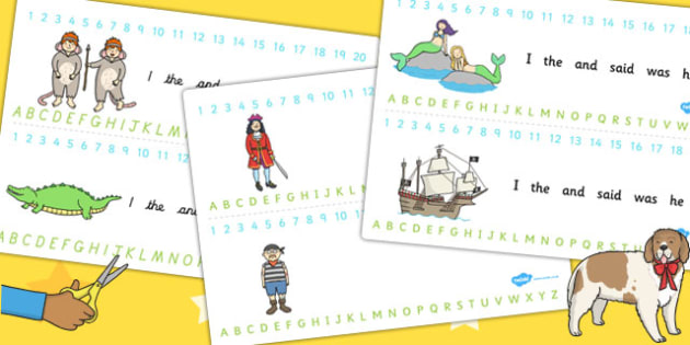 Peter Pan Combined Number and Alphabet Strips - numbers, letters