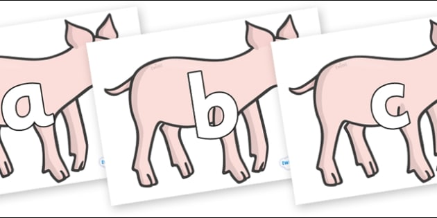 Phoneme Set on Piglets - Phoneme set, phonemes, phoneme, Letters and Sounds, DfES, display, Phase 1, Phase 2, Phase 3, Phase 5, Foundation, Literacy