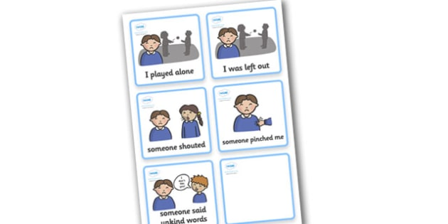 SEN Communication Cards Explanations (Boy) - daily activity, education, home school, child development, children activities, free, kids