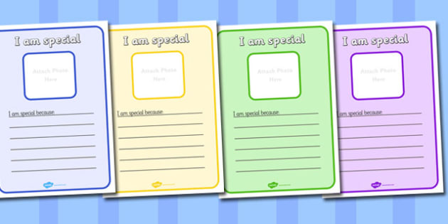 I am Special Peer Comments Sheets - I am special, peer, comments sheets, sheets, activity sheets, special, important, I am special because