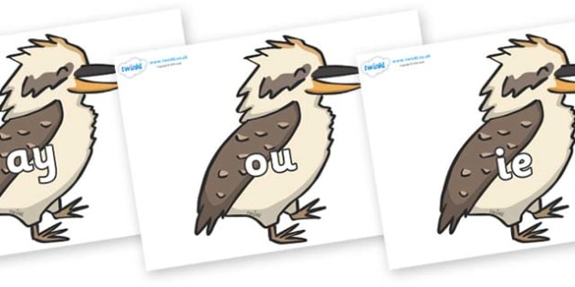 Phase 5 Phonemes on Kookaburras - Phonemes, phoneme, Phase 5, Phase five, Foundation, Literacy, Letters and Sounds, DfES, display