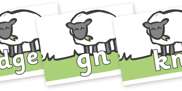 Silent Letters on Sheep to Support Teaching on Pig in the Pond - Silent Letters, silent letter, letter blend, consonant, consonants, digraph, trigraph, A-Z letters, literacy, alphabet, letters, alternative sounds