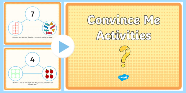 Convince Me Activities PowerPoint - Back to school resources, Maths, Starters,Welsh, Foundation Phase Profile, Number shape, Properties