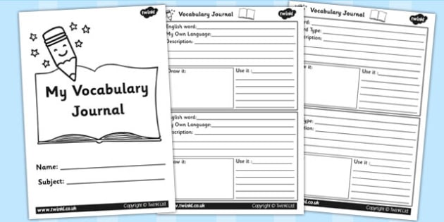 Class Vocabulary Journal Writing Frames - class vocabulary, journal, class journal, vocabulary journal, class vocab, vocab journal, class vocab journal