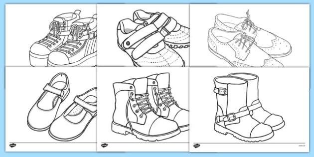 Shoe Design Template - Shoe shop, shoes, design, activity, role play, pack, shop, trainers, shoe box, labels, measuring chart, word cards