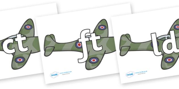 Final Letter Blends on Planes - Final Letters, final letter, letter blend, letter blends, consonant, consonants, digraph, trigraph, literacy, alphabet, letters, foundation stage literacy