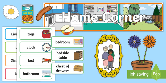 Home Corner Role Play Pack - home corner, home, role play, roleplay, houses and homes, house, home, bathroom,brick, stone, detached, terraced, bathroom, kitchen, door, caravan, where we live, ourselves