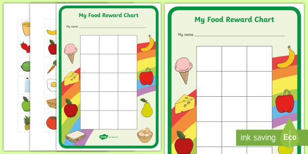 My Food Reward Chart - Reward Chart, food, good eating, healthy eating, School reward, Behaviour chart, SEN chart, Daily routine chart
