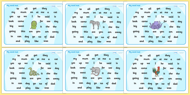 Foundation Stage 2 Word Mat - FS2, CLL, Communication language and literacy,  Display, Word mat, Key words, high frequency words, foundation stage literacy, DfES Letters and Sounds, Letters and Sounds, spelling