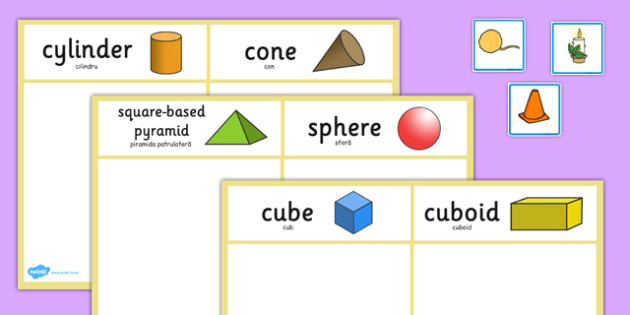 3D Shape Sorting Activity Romanian Translation - romanian, 3d shape, sorting, activity