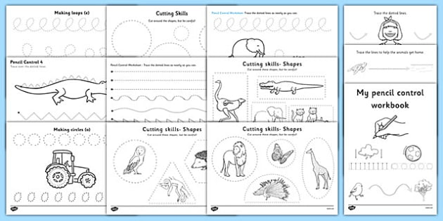 Pencil Control and Scissor Skills Resource Pack - Fine Motor Skill