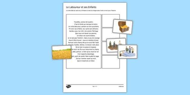 Le laboureur et ses enfants - french, france, le laboureur et ses enfants, Jean de La Fontaine, fable