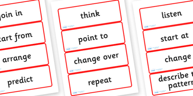 Year Four Numeracy Vocabulary Word Cards - Instructions - word cards, numeracy word cards, numeracy vocabulary, word flash cards, flash cards, key words