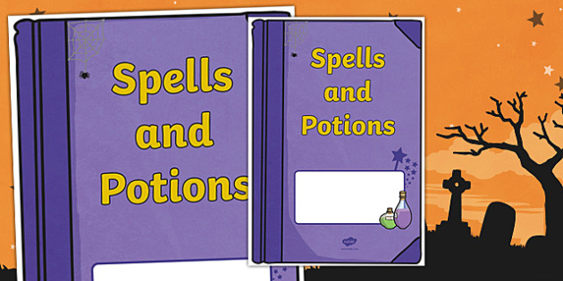 Book Cover Template Twinkl ~ Halloween spells and potions editable book cover