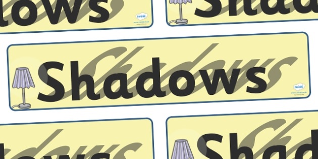 Shadows Display Banner - shadows, shadow, light, display, banner, sign, poster, dark, bright, light, sources of light, black, white, lights, sun, day, night, dim