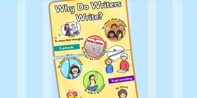 Why Writers Write Poster A3 - why writers write, why writers write poster, poster, display poster, writing poster, why writers write display poster