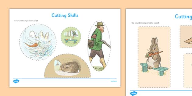 Beatrix Potter - The Story of a Fierce Bad Rabbit Cutting Skills Worksheet - beatrix potter, fierce, bad, rabbit