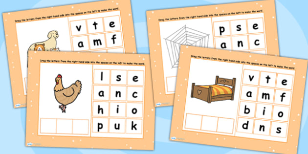 CVC Words E Spelling Flipchart - CVC words, spellings, flipchart
