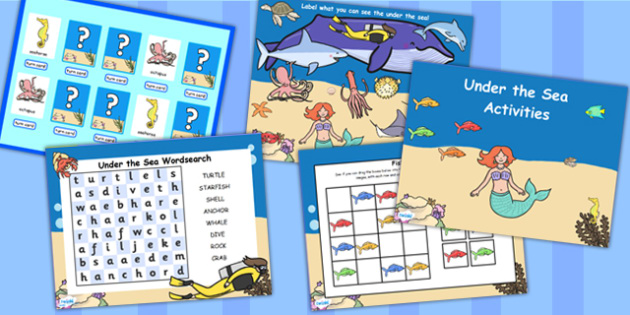 Under the Sea Flipchart Activity Pack - story books, activities