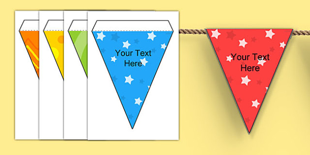 Editable Patterned Bunting - patterned bunting, bunting, themed bunting, editable bunting, editable, classroom display, display bunting, class display