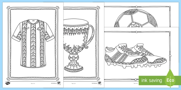 Football Mindfulness Colouring Sheets - Mindfulness Colouring, football, sports,