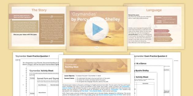 GCSE Poetry Lesson Pack: Ozymandias