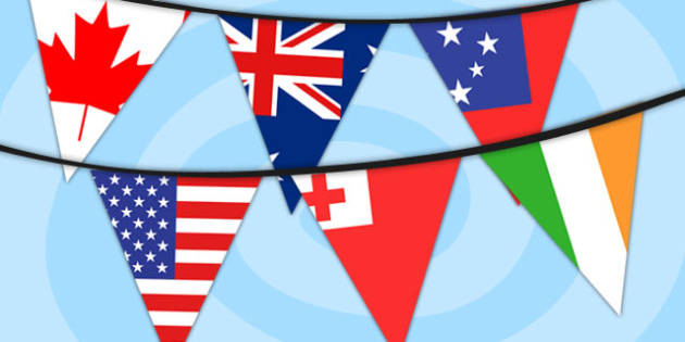 Rugby World Cup 2015 Country Flag Bunting - rugby, world cup, bunting