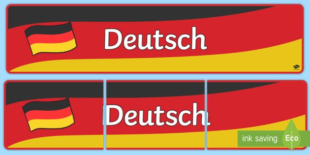 German Display Banner (Deutsch) - MFL, German, Modern Foreign Languages, foundation,  Deutsch, display, banner, display