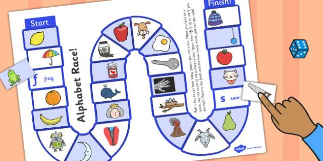 Self-Checking Alphabet Board Game - alphabet, board game, check