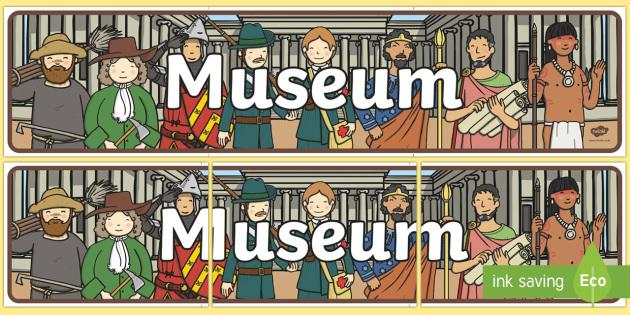 Museum Role Play Banner - museum, role play, museum role play, role play banner, banner, display banner, banner for display, header, display header