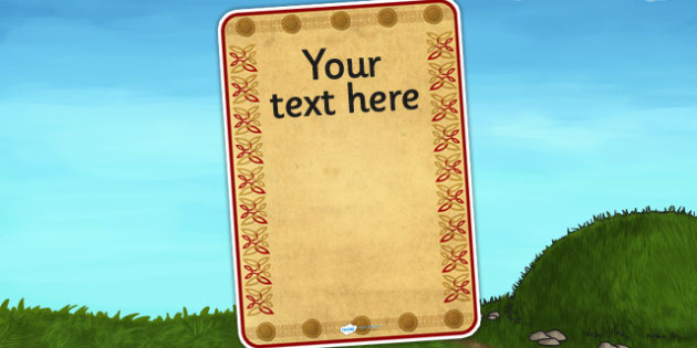 Anglo Saxon Themed Themed Editable Poster Template - saxons