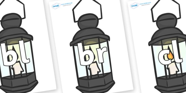 Initial Letter Blends on Lamps - Initial Letters, initial letter, letter blend, letter blends, consonant, consonants, digraph, trigraph, literacy, alphabet, letters, foundation stage literacy