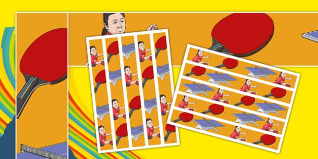 The Olympics Table Tennis Display Borders - the olympics, rio olympics, 2016 olympics, rio 2016, table tennis, display borders