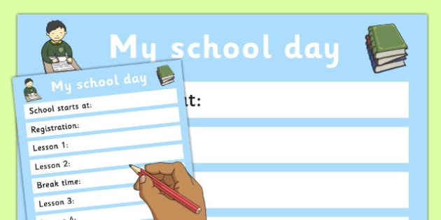 SEN Transition to Secondary School My School Day - new school