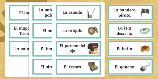 Pirates Word Cards