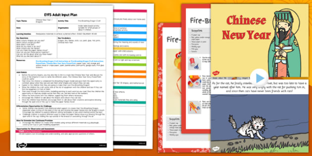 Fire-Breathing Dragon Craft EYFS Adult Input Plan and Resource Pack - fire-breathing, dragon, craft, eyfs, adult input, pack
