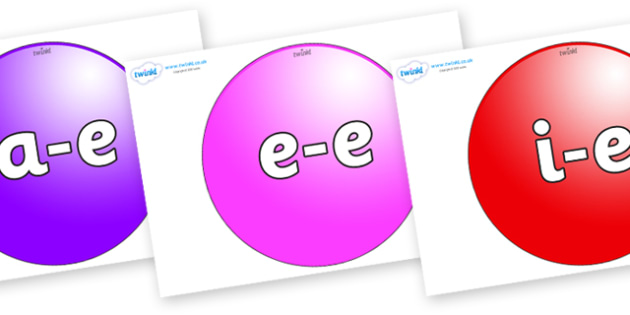 Modifying E Letters on Spheres - Modifying E, letters, modify, Phase 5, Phase five, alternative spellings for phonemes, DfES letters and Sounds