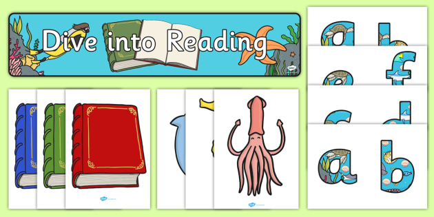 Dive into Reading Display Pack - dive, reading, display pack, display
