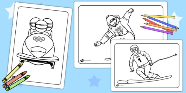Winter Olympics Colouring Pages - olympic, winter, colour, sport