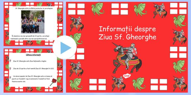 Ziua Sf. Gheorghe, Prezentare informativa PowerPoint - religie