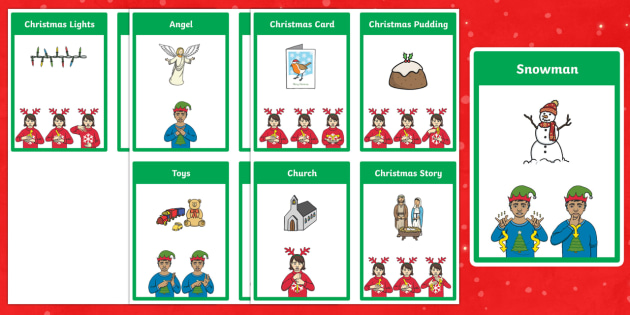 BSL Christmas Flashcards