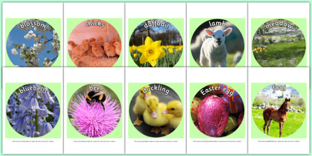 Spring Display Photo Cut Outs - spring, seasons, display photos