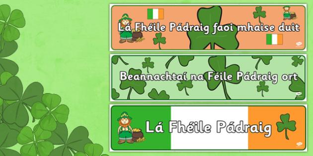 Lá Fhéile Pádraig Display Pack Gaeilge - la feile padraig, Lá féile Pádraig, La Fheile Phadraig, lá le Phádraig